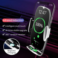 KSTUCNE 15W QI Wireless Car Charger For iPhone 11 Samsung S20 Xiaomi MI For Mobile Phone Holder Stand Car Air Vent Mount Holder