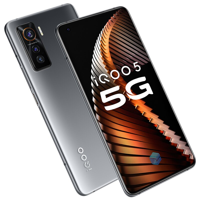 Original vivo iQOO 5 8GB 128GB Snapdragon 865 5G Mobile Phone 55W Dash Charging 120Hz Screen Refresh Rate KPL Android Cellphone