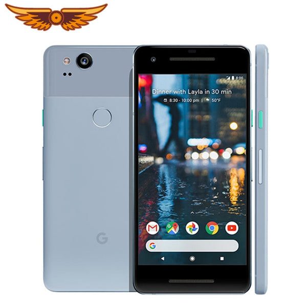 Google Pixel 2 Original 100% 5.0 Inches Octa Core 4GB RAM 64GB/128GB Snapdragon 835 Single SIM 12MP Android Unlocked Cellphone