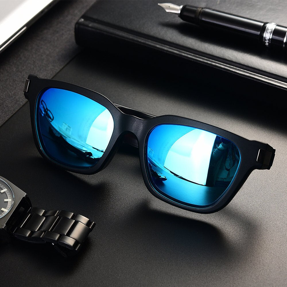 Bluetooth 5.0 Open-ear Aduio Sunglasses AI Smart Glasses TWS Earphone Waterproof Fashion Bone conduction polarized sunglasses
