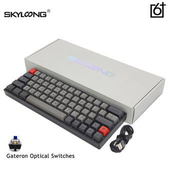SK64 S Gateron Optical Brown Switch Bluetooth Mechanical Gaming Keyboard Dye Sub Dsa Keycap RGB Hot Swap Programmable Computer