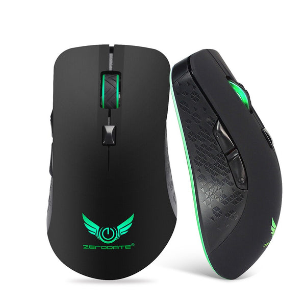 LED Backlight Gaming Mouse 2400DPI 6 Buttons Optical 2.4G Wireless Mouse Gamer Professional Computer Laptop Portable Mice