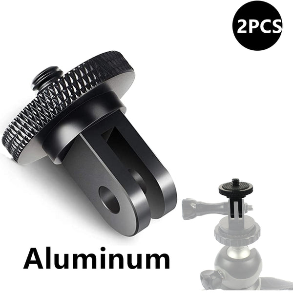 Aluminum Alloy 1/4 inch Mini Tripod Adapter Mount for GoPro Hero 8 7 6 5 4 Black Sjcam M10 Xiaomi Yi 4K Eken Go Pro Accessory
