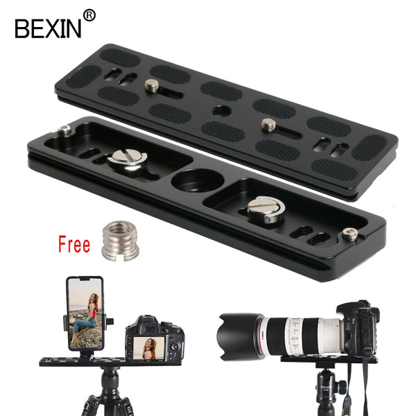 BEXIN long Camera tripod quick release plate quick shot clip bracket camera mount plate for dslr camera tripod with 1/4 screw