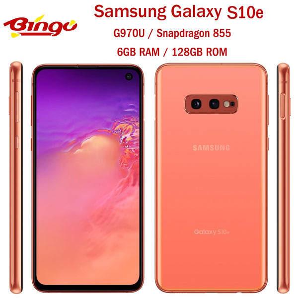 Samsung Galaxy S10e G970U US Version Octa Core Snapdragon 855 LTE Android Mobile Phone 5.8