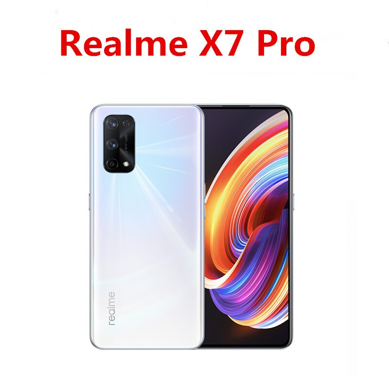 "DHL Fast Delivery Realme X7 Pro 5G Cell Phone 6.55"" AMOLED 120HZ 8GB RAM 256GB ROM 64.0MP 65W Super Charger  Mediatek 1000+ OTA"