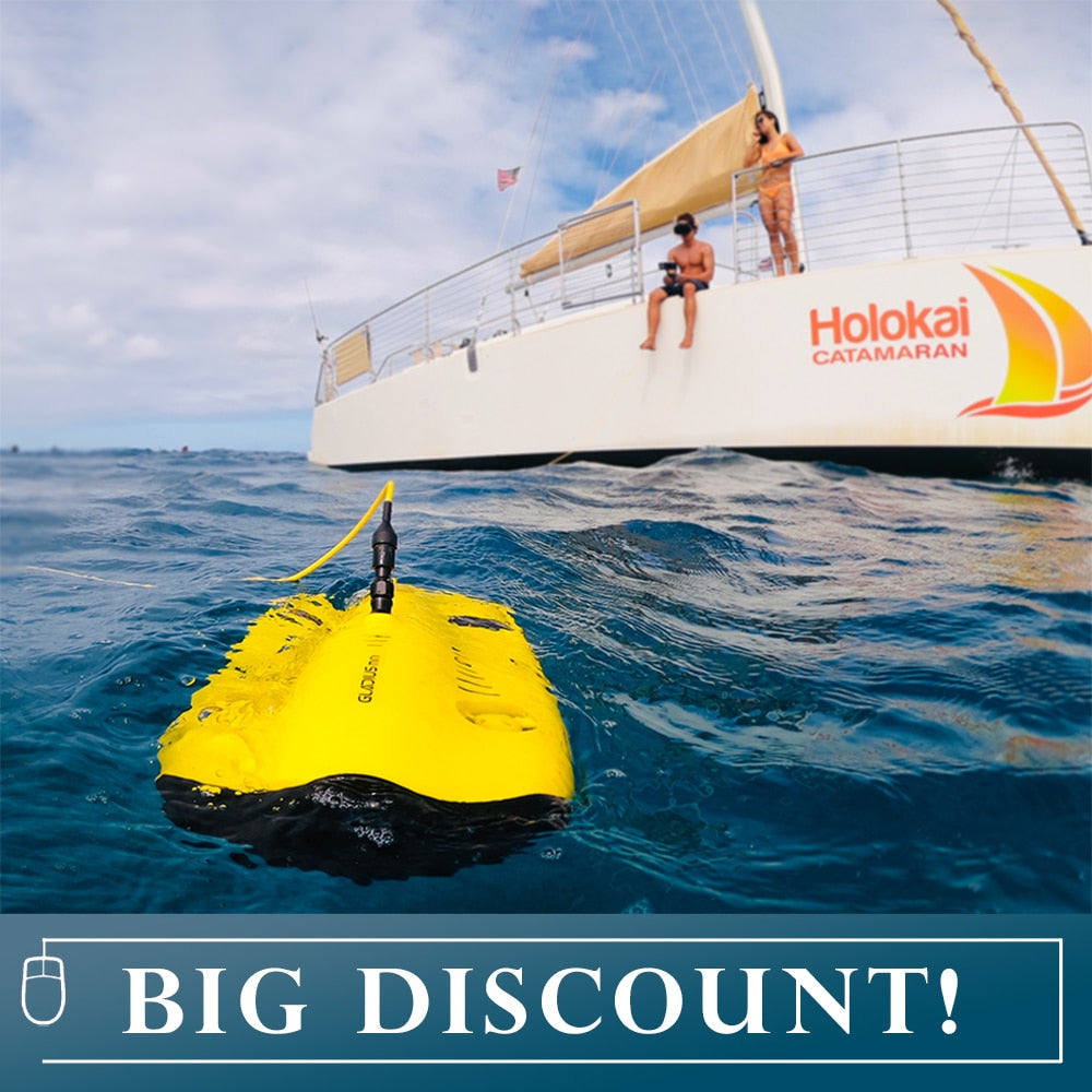 Original New Gladius Mini 100 Meter Underwater Drone World's 1st Intelligent 5 Thruster Mini size Underwater Drone with Backpack