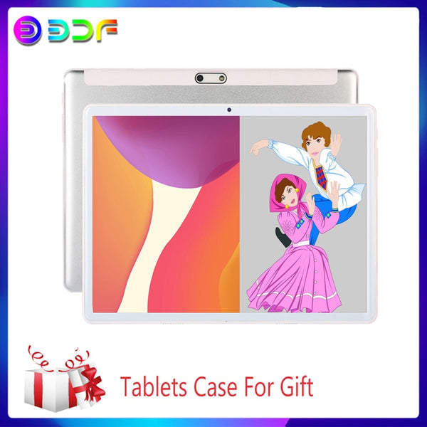 2.5D Steel 10.1 inch Android Tablet pc Octa Core 3G Phone Call 64GB WiFi Bluetooth 4.0 Dual SIM Camera Google System 9.0 Tablet
