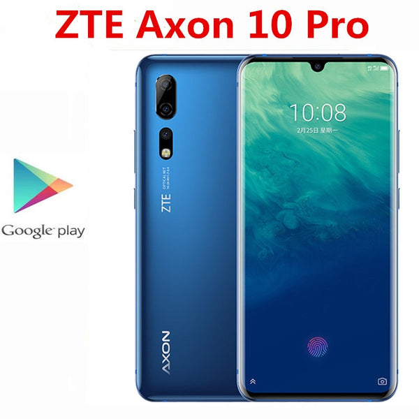 International Version ZTE Axon 10 Pro 4G LTE Mobile Phone 48.0MP+20.0MP+8.0MP+20.0MP Snapdragon 855 6.47