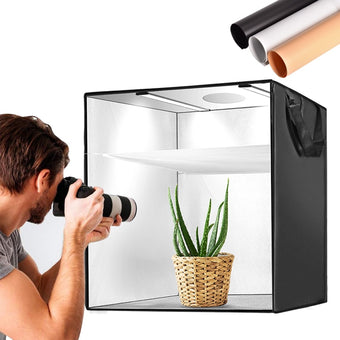 40/50/60cm Portable Softbox Photo LED Light Box Shooting Tent With 3 Colors Background For Studio Photography Lighting Box Tent