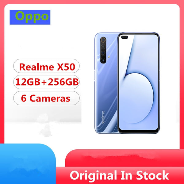 Original Realme X50 5G Mobile Phone Snapdragon 765G Android 10.0 6.57