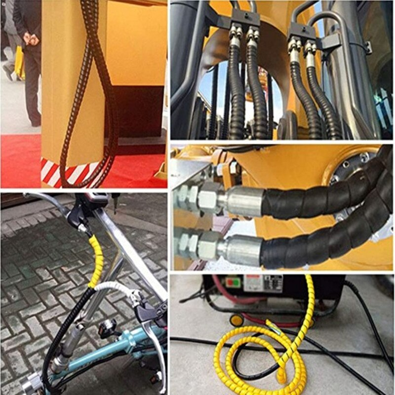Spiral Wrap Hose Protector Anti-break Cable Wire Organizer Cord Management Flame Retardant Oil Pipe Protective Sleeve 1M Length