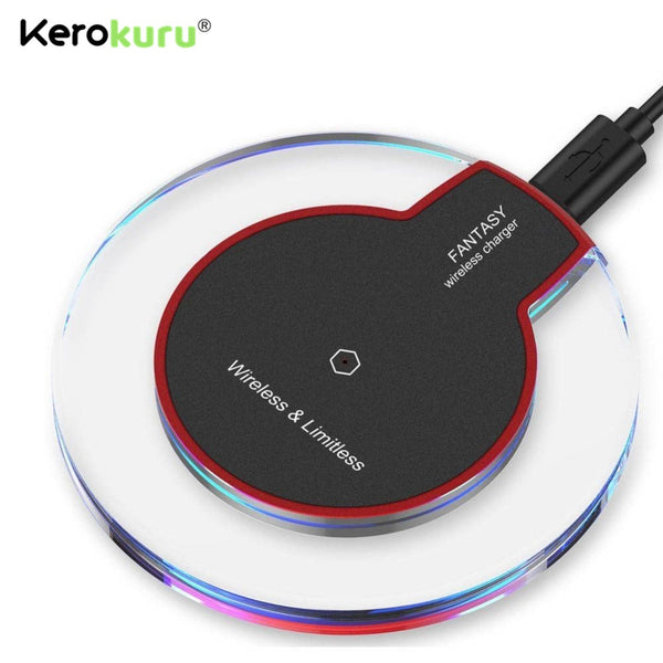 2020 Hot Sale QI Wireless Charger For iPhone XS Max LED USB Wireless Charger Adapte Fast Charging For Samsung Galaxy S8 S9 Plus