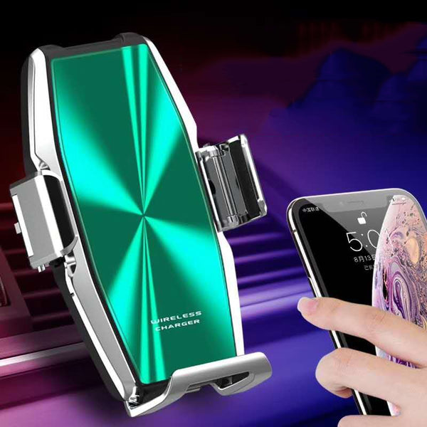15W Car Wireless Phone Charger Automatic Clamp Qi Super Capacitor Fast Charge Holder foriphone11pro max 11pro 11 forSamsung S10