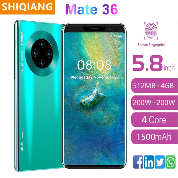 2020 Newly SOYES Global Version Smart phone Quad Core Android9.1  Cell phone 5.8inch Screen Dual Sim Cards 1500mAh Mobile Phone