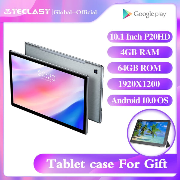 Teclast P20HD tablet 10.1inch Octa core A55 Android 10.0 4GB RAM 64GB ROM 1920×1200 IPS 2.5D touch metal body BDS+GPS  6000mAh