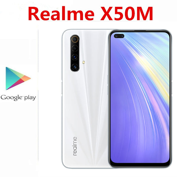Original Realme X50M 5G Mobile Phone 48.0MP+8.0MP+2.0MP+2.0MP+16.0MP+2.0MP 6.57