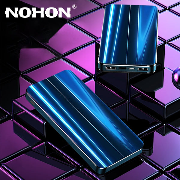 NOHON 10000mAh Power Bank Portable Charging PowerBank Dual USB PoverBank External Battery Charger For Xiaomi Mi 8 9 iPhone 6S 2A