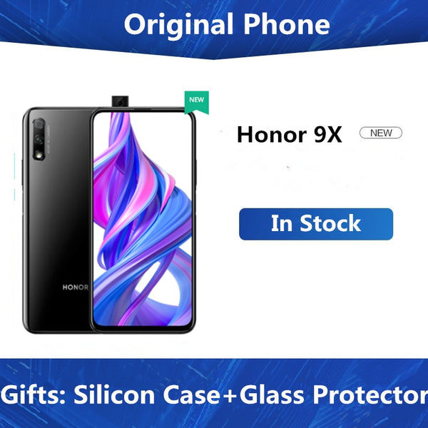 DHL Fast Delievry Honor 9X Cell Phone Kirin 810 Android 9.0 6.59