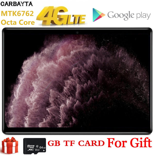 10 Inch AKPAD Gift 64GB TF Card Tablet PC Global Bluetooth Wifi Phablet Android 9.0 8 Octa Core Dual SIM Card 2.5D IPS 1920*1200