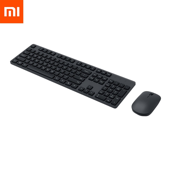 Original Xiaomi Wireless Keyboard & Mouse Set 104 keys Keyboard 2.4 GHz USB Receiver Mouse for PC Windows 10 (Mouse and keyboard)