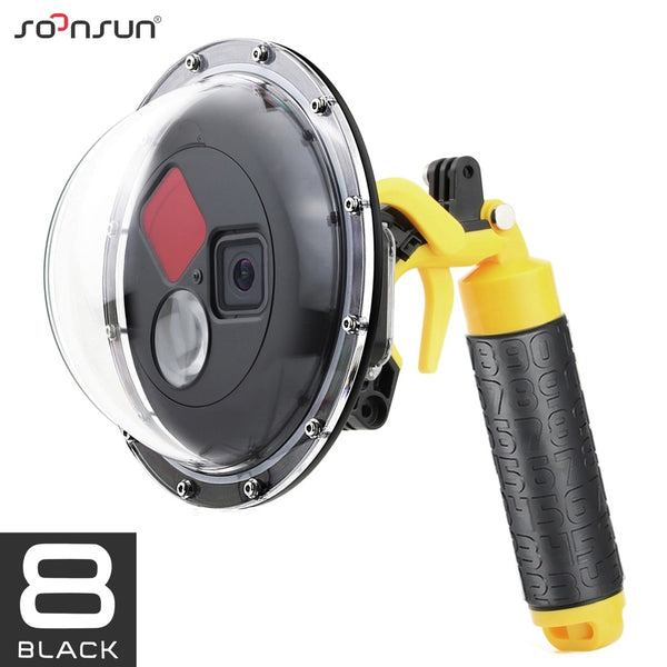 SOONSUN 45M Diving Filter Switchable Dome Port Waterproof Housing Case with Trigger for GoPro Hero 8 Black Go Pro 8 Accessories