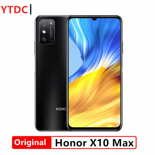 2020 New Honor X10 Max 5G Smart Phone 7.09 inch RGBW Screen 5000mA Battery NFC 6GB 8GB RAM 128GB ROM Main 4800MP Super Charger