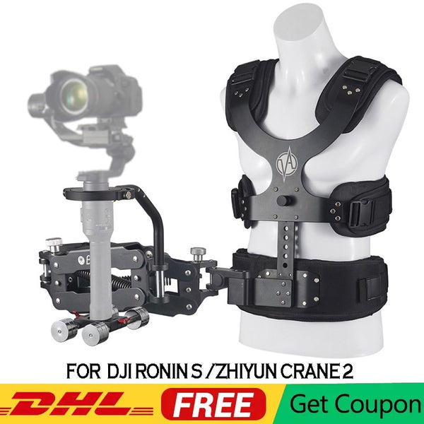 PRO Gimbal Support Vest with Z Axis Spring Arm for DJI Ronin S Zhiyun Crane 2 Moza Air 2