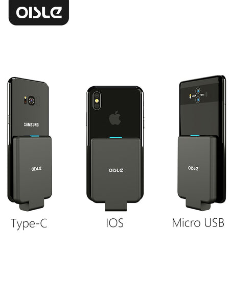 OISLE mini portable external battery charger/battery case Power Bank for iPhone X 11 7 8 6s xs/Samsung S9/Huawei P10 P20/xiaomi