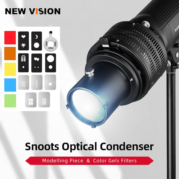 Focalize Conical Snoot Photo Optical Condenser Art Special Effects Shaped Beam Light Cylinder for Elinchrom Mount Studio Flash
