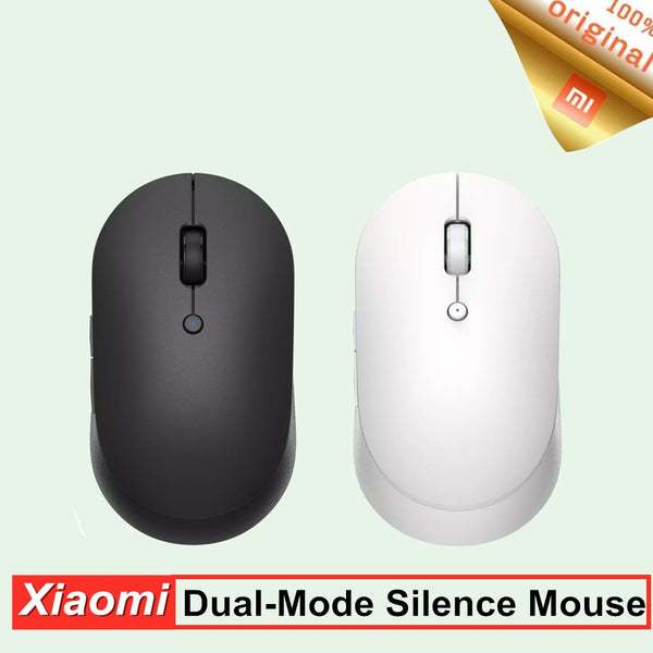 Orignial Xiaomi Mi Wireless Dual-Mode Mouse Silent Ergonomic Bluetooth USB Side buttons Protable Mini Wireless Mouse for Laptop