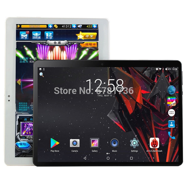 10.1 inch Tablet Pc Octa Core 6G+32GB  Android 9.0 Google Play 4G LTE Tablets WiFi GPS 2.5D 1280x800 Tempered Glass 10 inch Tab