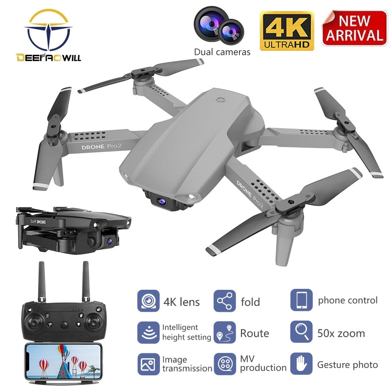 2020 NEW E99 Drone 4K HD FPV Wide Angle HD profession 4K Dual Camera Hight Hold Optical Flow Foldable RC Quadcopter Dron Toys