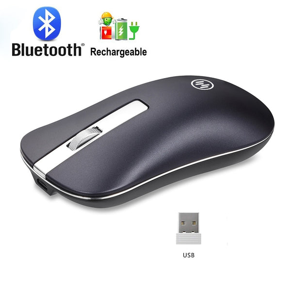 Rechargeable Wireless Mouse Computer Bluetooth Mouse Silent For PC Laptop 2.4Ghz Mini USB Ergonomic Mause Noiseless Mice