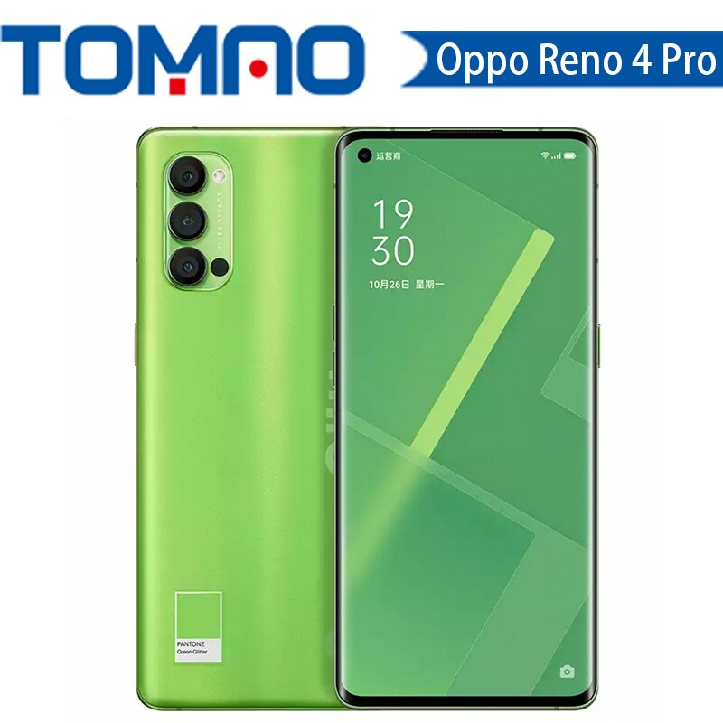 Oppo Reno 4 Pro 5G Smartphone Snapdragon 765G 6.5inch 90Hz AMOLED Sreen 4000Mah 65W SupperVOOC 48MP 5G Cellphone NFC Google Play