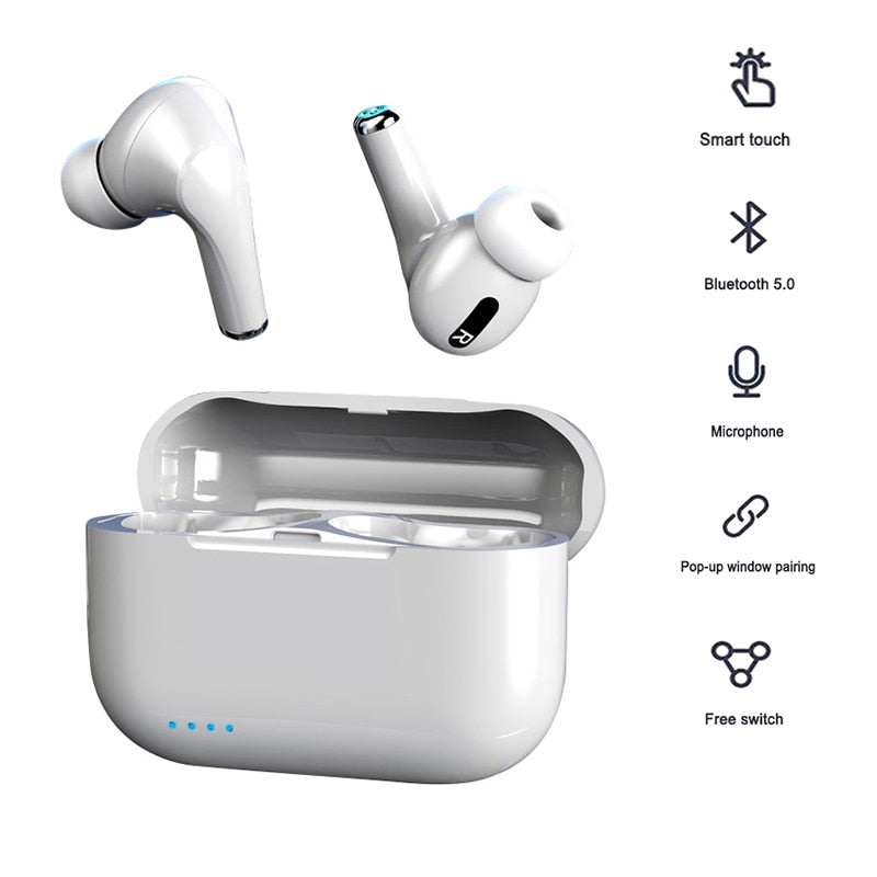 headphones wireless bluetooth earphone with microphone earphones noise canceling tws headset with charging box for mobile phone