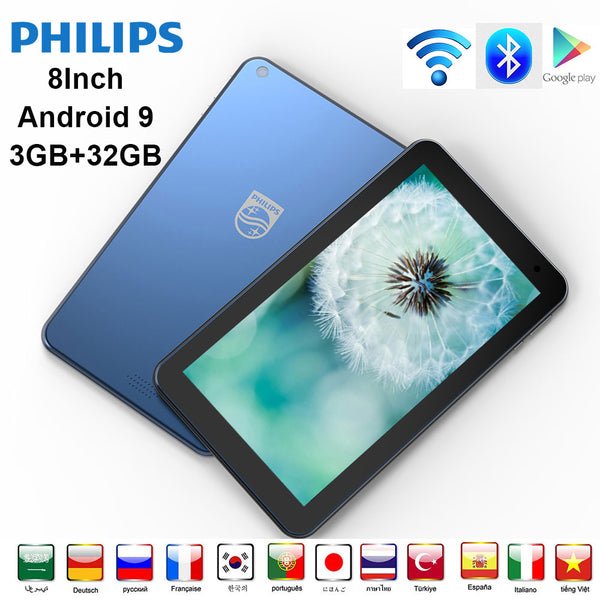 Philips Original Android Tablet 8 inches Bluetooth wifi Android 9.0/ 3GB+32GB