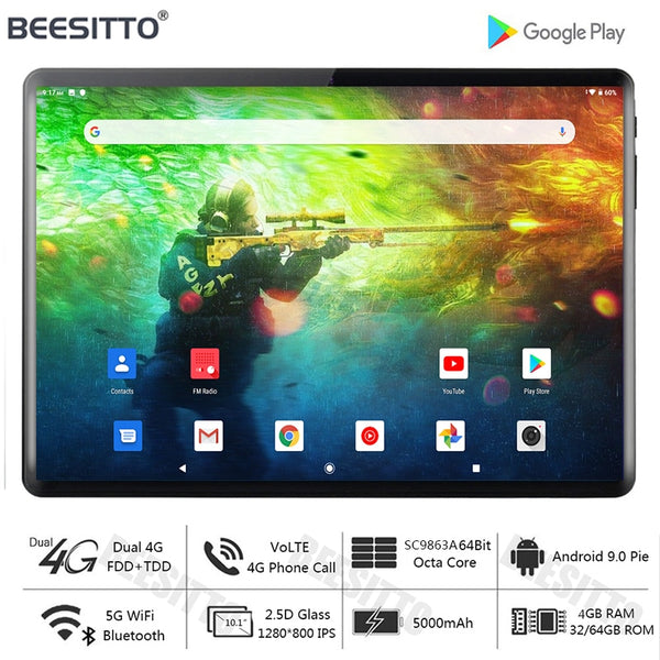 Free Shipping 10 inch tablet PC Octa Core Android 9.0 OS 5.0MP 4GB RAM 32GB ROM GPS WIFI Bluetooth tablet android 10 планшеты
