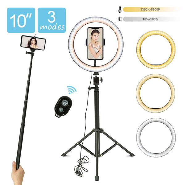 10inch LED Ring Light With Tripod Stand Photo Profession Photography Studio Youtube Live Selfie Ring Lamp With Stand Tripod