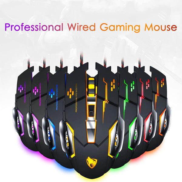 3200DPI Wired Gaming Mouse Professional Gamer Mouse Backlit LED Mice 6 Buttons Gaming USB Optical For Laptop Desktop ps4 Gamer