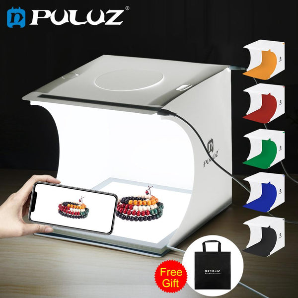 PULUZ 20 * 20CM 6 Colors Mini Folding Studio Soft LightBox Photography Background Photo Studio Foto Studio Fotostudio Box