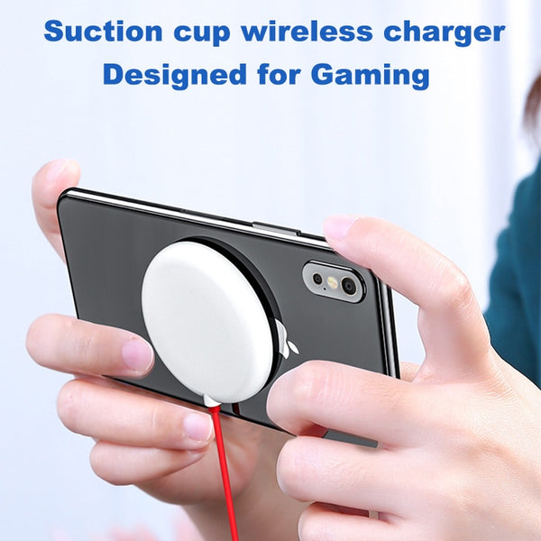 Spider Suction Cup Wireless Charger For iPhone XR XS Portable Fast Wireless charging Pad For Samsung Absorption Wireless Charger