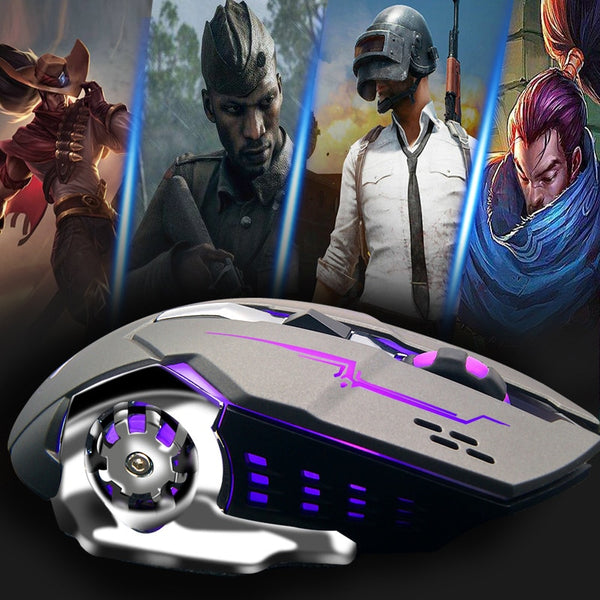 Wired Gaming Mouse RGB Backlit Ergonomic Mouse Programmable with 4 Backlight Modes up to 3200 DPI for Windows PC Gamers