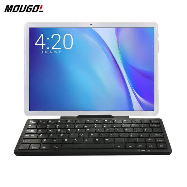 New 10 inch Tablet Android 9.0 3G Phone Call Tablet PC WiFi Tablets GPS Netflix Youtube HD WebCam Pad 2GB RAM Tablet + Keyboard