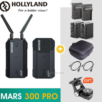 NEW HOLLYLAND Mars 300 PRO Dual HDMI 300FT wireless video Transmission Systerm HD 1080P 5G Video Transmitter Receiver for DSLR