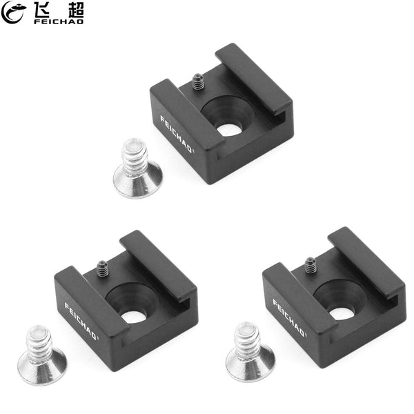 3x Hot Shoe Mount Adapter Metal Hotshoe 1/4