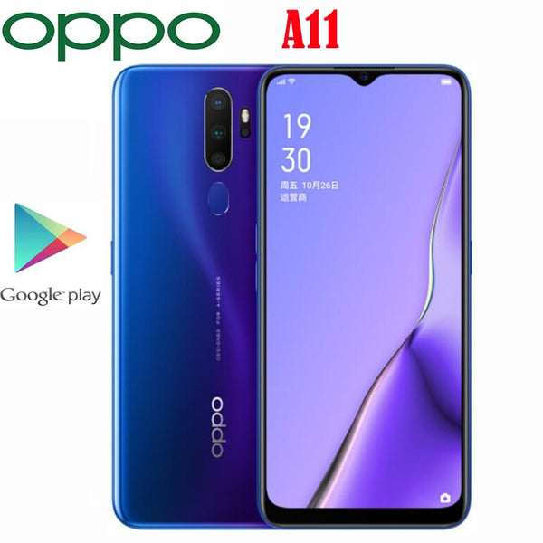 New Original Official Oppo A11 SmartPhone Octa Core Snapdragon 665  4G RAM 128G ROM 6.5inch LCD 1600x720P 48MP Camera 5000Mah
