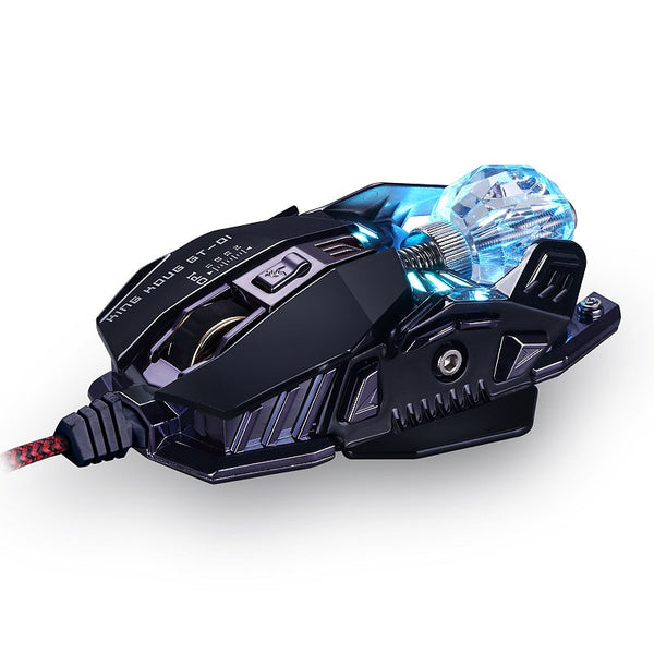 AAAJ-KCPDS Gaming Mouse Ergonomic Wired Mouse 8-Key LED 4000 DPI Optical Macro Programmable USB Computer Mouse Wired Gaming Mous