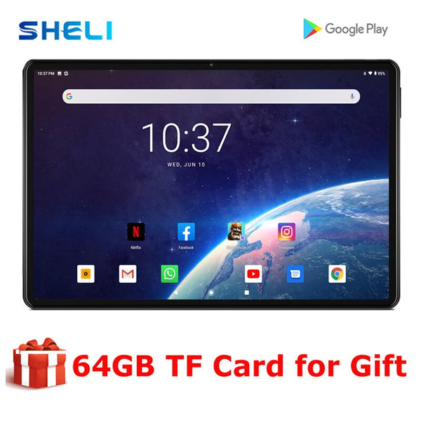 New Original 10 inch Tablet Pc Quad Core 3G Phone Call 10.1 Tablets 32G Android 9.0 tab Google Market GPS WiFi FM Tablets 10.1