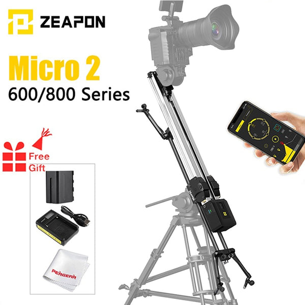 ZEAPON Micro 2 Motorized Manual Slider E600 E800 M600 M800 DSLR Camera Rail Slider silent Motorized Double Distance Track Slider
